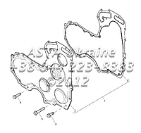 Крышки ГРМ, двигатель 1104C-44Т, RG38101 Г1-17-3, фото 1