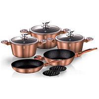 Набор посуды Berlinger Haus Metallic Line Rosegold Edition на 10 предметов ( BH-1220N)