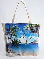 Пляжная сумка с принтом в морском стиле