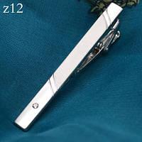 Зажим для галстука для мужчины серебристый