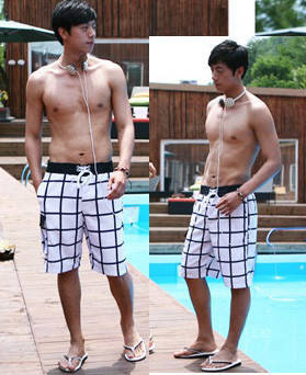 Пляжные шорты в полоску 3 размера, фото 2