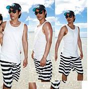 Пляжные шорты в полоску 3 размера