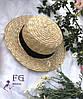 Соломенная шляпа канотье, фото 5