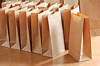 Бумажный пакет без ручек на вынос 170х280х120