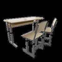 Парта + 2 стула школьная двухместная трансформер 3/1