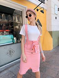 Женские джинсовая юбка на брителях (в расцветках)