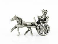 Скульптура, миниатюра, повозка, олово,  Германия, фото 1