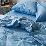 Постельное белье поплин Голубой, фото 2