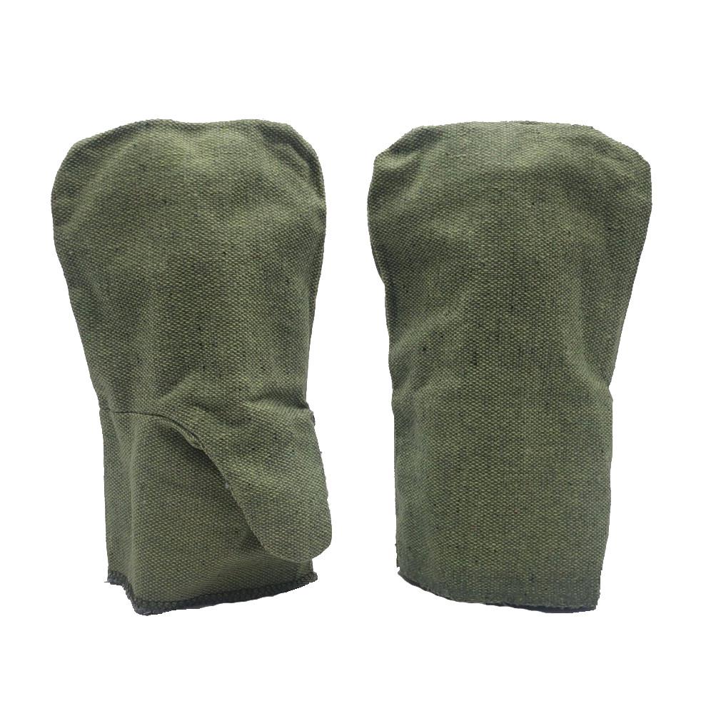 Рабочие рукавицы, двойной брезент, двухпалые, уп. — 25 пар
