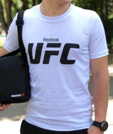 Мужская футболка в стиле Reebok белая (S, M, L, XL, XXL размеры)