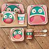 Бамбуковый набор детской посуды (ЭКО) «Совенок».