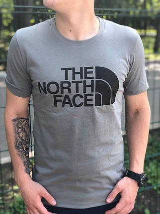 Мужская футболка в стиле The North Face серая, фото 2