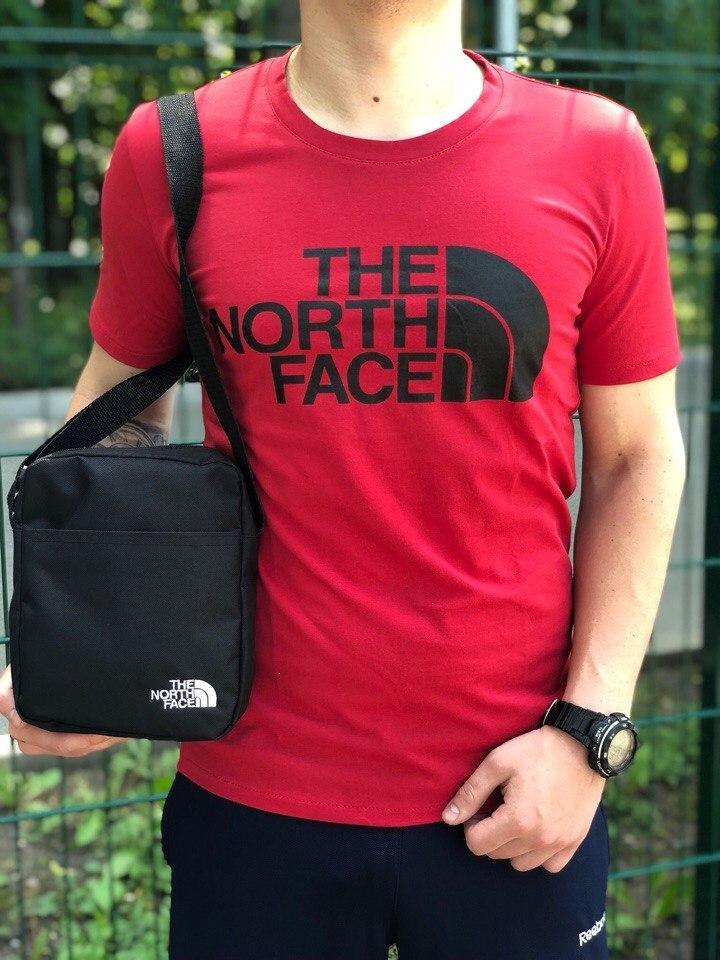 Мужская футболка в стиле The North Face красная