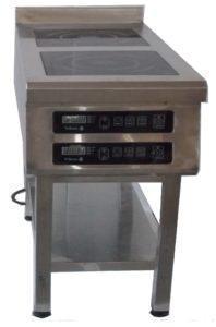 Плита индукционная 2х конфорочная 3,5 кВт напольная Tehma 400*900