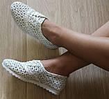 Violetti Прованс! женские мокасины туфли балетки с  перфорацией кожа, фото 5