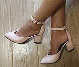 Комфортные туфли Limoda из натуральной кожи босоножки на каблуке 6 см очень красивые цвет черный, фото 10