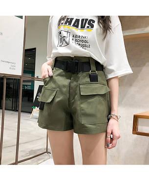 Женские шорты Карго Фабричный Китай M, Хаки, фото 2