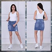"""Юбка женская джинсовая рванка с поясом, размеры 34-40 """"JeansStyle"""" купить недорого от прямого поставщика"""