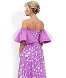 Вечернее сиреневое платье в пол с декольте-сердце Д-809, фото 2