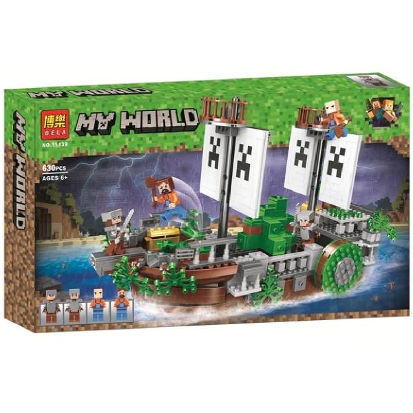 "Конструктор Bela 11139 ""Битва на реке"" (аналог Lego Майнкрафт, Minecraft), 630 дет"