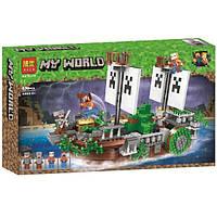 """Конструктор Bela 11139 """"Битва на реке"""" (аналог Lego Майнкрафт, Minecraft), 630 дет, фото 1"""