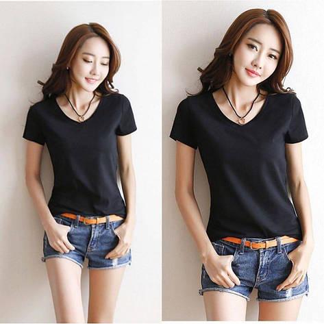Женская футболка Фабричный Китай Черный, Единый, фото 2