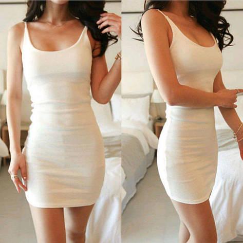 Женское летнее платье Фабричный Китай Белый, Единый, фото 2