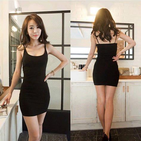Женское летнее платье Фабричный Китай Черный, Единый, фото 2