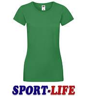 Женская футболка под печать и принт FRUIT OF THE LOOM SOFSPUN Т Ярко-зеленая, фото 1