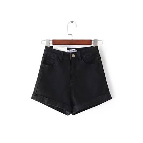 Женские джинсовые шорты Фабричный Китай M, Черный, фото 2