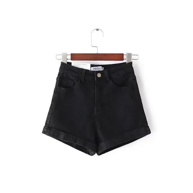 Женские джинсовые шорты Фабричный Китай M, Черный