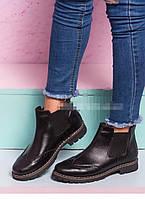 Женские черные ботинки в стиле Timberland оксфорд  натуральная кожа  весна осень, фото 1