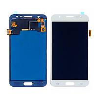 Дисплей для SAMSUNG J500 Galaxy J5 с белым тачскрином, с регулируемой подсветкой БЕЗ ЛОГОТИПА (ID:20058)
