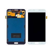 Дисплей для SAMSUNG J700 Galaxy J7 с белым тачскрином, с регулируемой подсветкой (ID:18629)