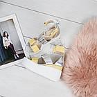 Женские босоножки желтого цвета на завязках, из натуральной кожи 38 ПОСЛЕДНИЙ РАЗМЕР, фото 5