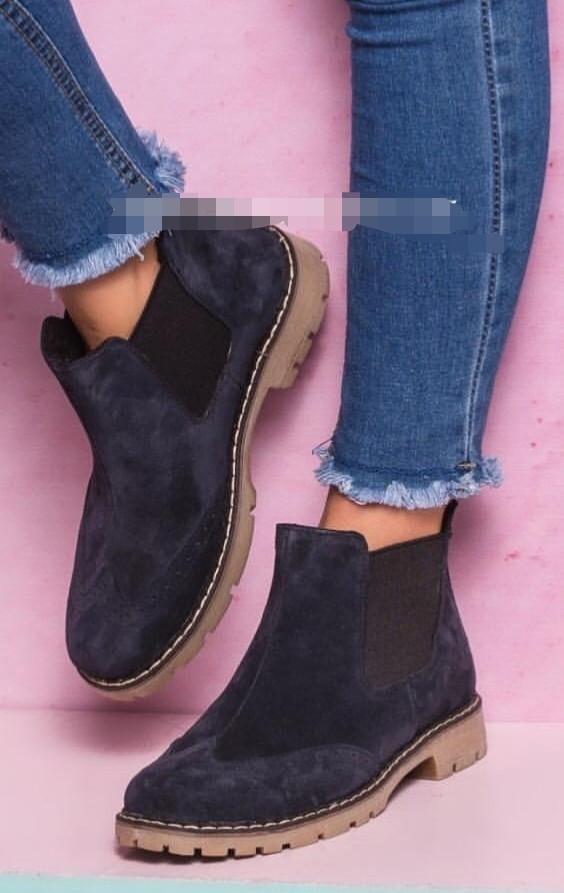 55c530d58 Оксфорды женские синие ботинки в стиле Timberland натуральная замша весна  осень