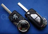 Peugeot выкидной ключ (корпус) 2 - кнопки, лезвие VA2, с креплением для батарейки (Артикул: F279CBL)