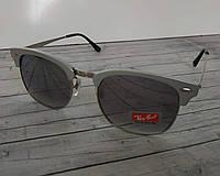 Солнцезащитные очки Clubmaster Ray Ban (копия) серые