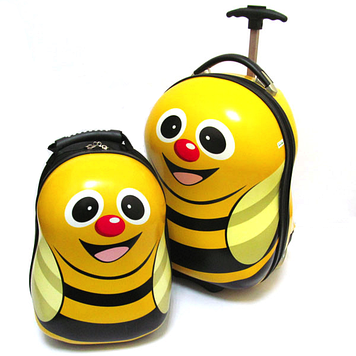 "Набор: чемодан детский на 2 колесах ""Пчелка"" 17"" + рюкзак"