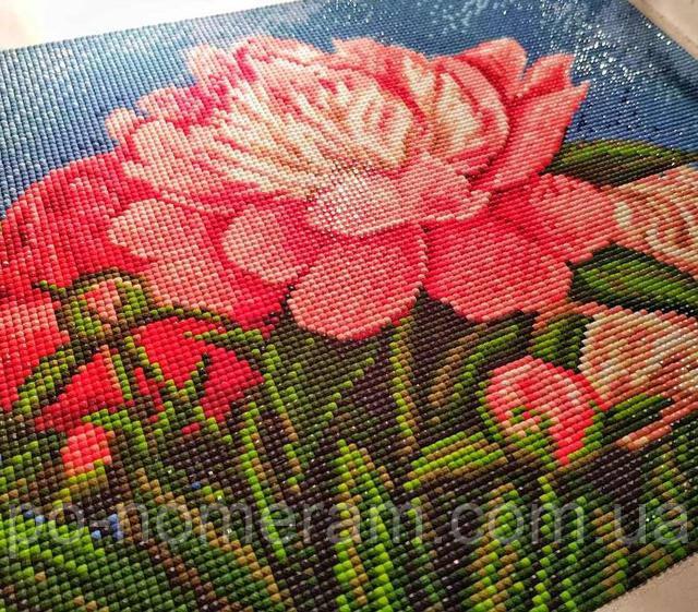 алмазная мозаика цветы фото готовой работы