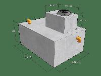 """Септик бетонный """"НИКОС-4500"""" готовый в сборе с биофильтром"""