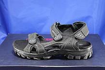 Спортивные подростковые сандалии натуральный нубук черные Razor