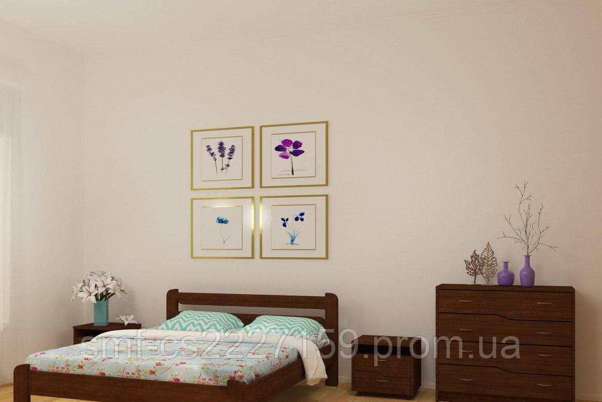 Ліжко Сміф Хвиля з натурального дерева