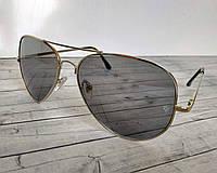 Солнцезащитные очки Авиаторы Ray Ban (копия) серые
