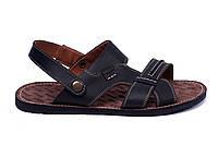 Мужские кожаные сандалии  Bonis Original Black, фото 1