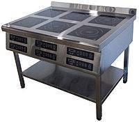 Плита индукционная 6ти конфорочная 3,5 кВт напольная Tehma 1177*900