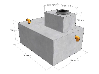 Бетонный биосептик 4,5 м. куб. в сборе с биофильтром