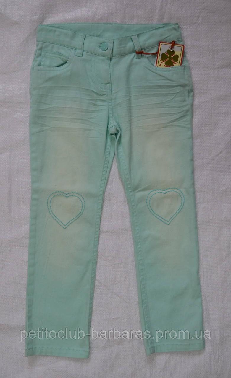 Детские летние хлопковые брюки мята (р. 116, 140, 146 см) (QuadriFoglio, Польша)