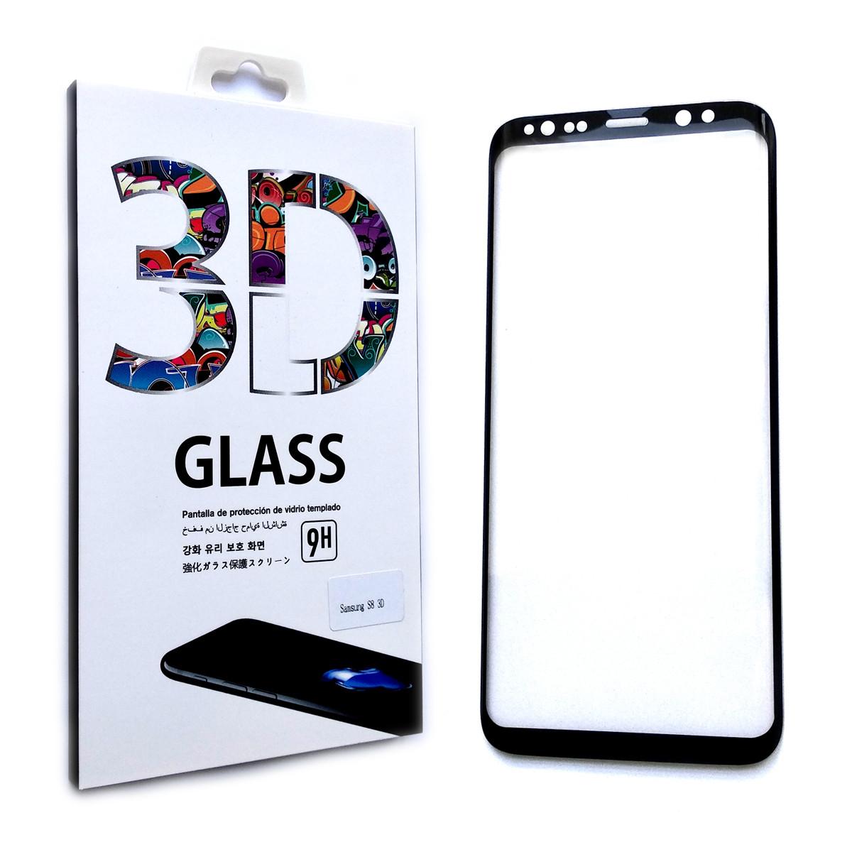 Защитное стекло 3D для Samsung Galaxy S8 Plus G955 2017 (Black)