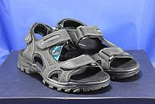 Подростковые сандалии Razor на липучках натуральный нубук черные